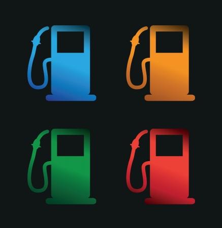 petrol pumps Illustration