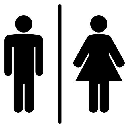 wc: ein Mann und eine Frau Toilette Zeichen