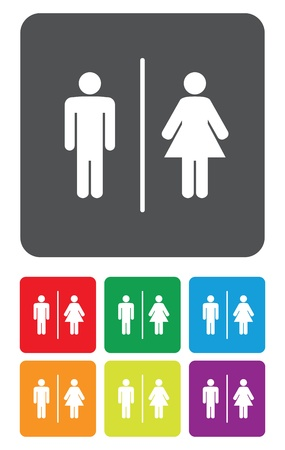 loo: a man and a lady toilet sign