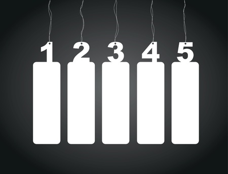 a set of one to five number tag labels Vector