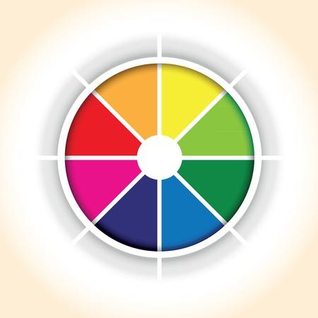 segmento: un c�rculo pastel colorido fondo segmento gr�fico Vectores