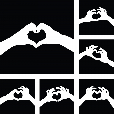 love heart hands Vector