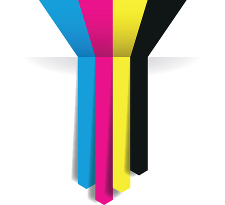 printing icon: cmyk arrow lines Illustration