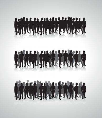 mensen silhouet achtergrond lijnen Stock Illustratie