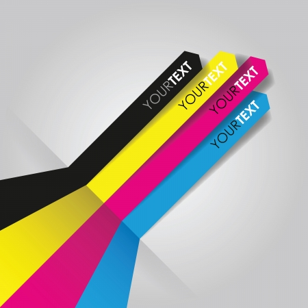 vertical lines: cmyk print lines Illustration