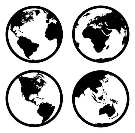 globe abstract: world Illustration