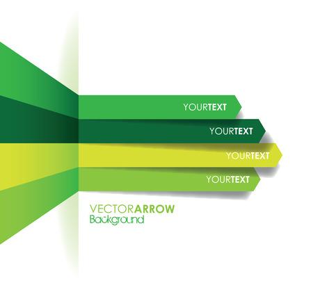 ligne verte flèche fond Illustration