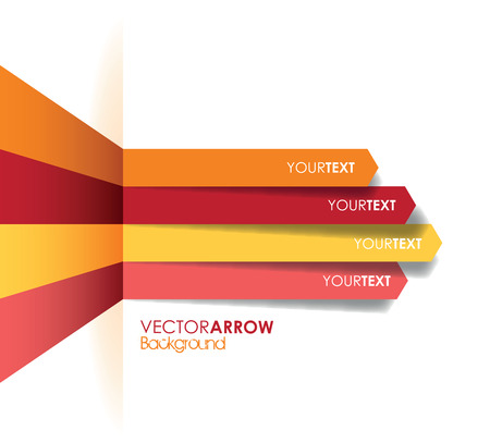 curve arrow: red arrow line background Illustration