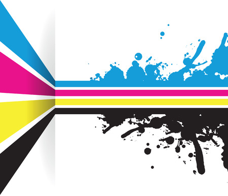 a splash cmyk line arrow line background Illustration