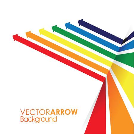 een regenboog gekleurde pijl lijn perspectief achtergrond