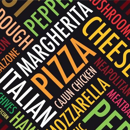 pizzeria label: a square pizza background