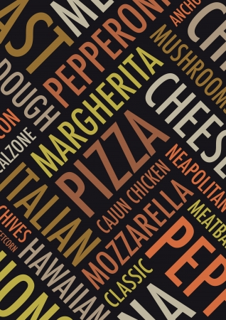 margherita: an a4 pizza background