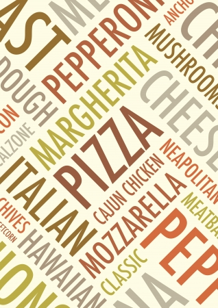 an a4 pizza background Vector