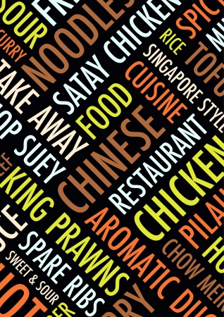 take out food: an a4 chinese background