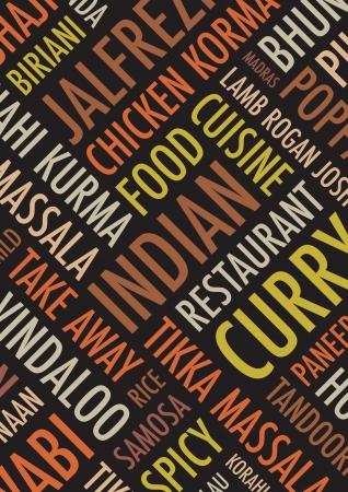 india food: indian colourful  background Illustration