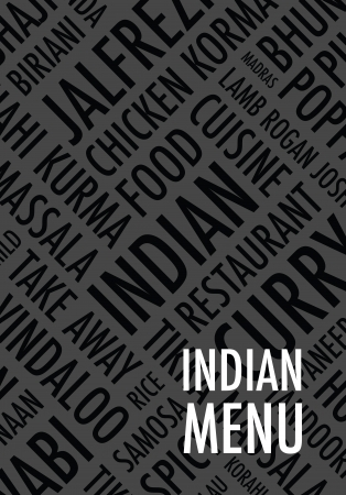 eatern: indian menu background