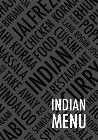 take out food: indian menu background