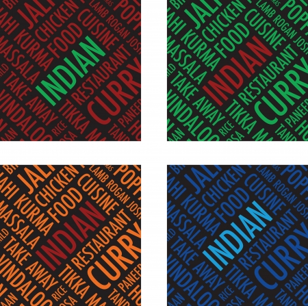 indian square colourful background set Vector