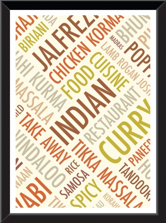 curry rice: indian menu colourful  background