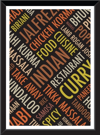 eatern: indian menu colourful   background Illustration
