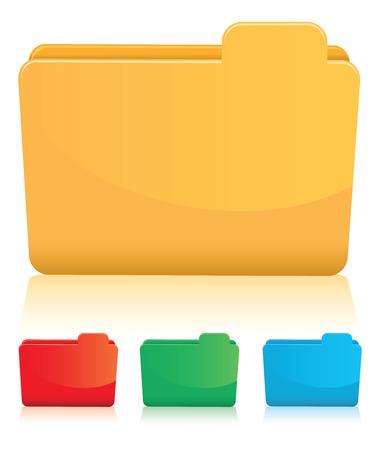 orange folder set