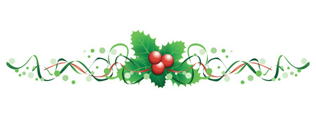 christmas holly banner Stock Vector - 23250652