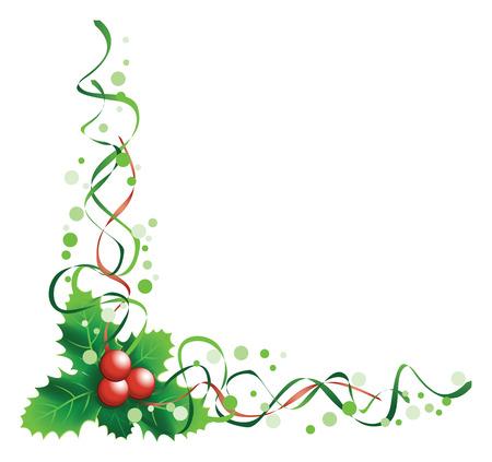 Weihnachtsstechpalme Ecke Standard-Bild - 23250653