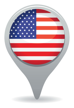 flags usa: american icon Illustration