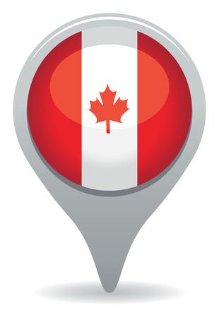 カナダ アイコン  イラスト・ベクター素材