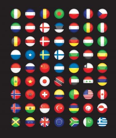 bandera de colombia: Bandera de botones