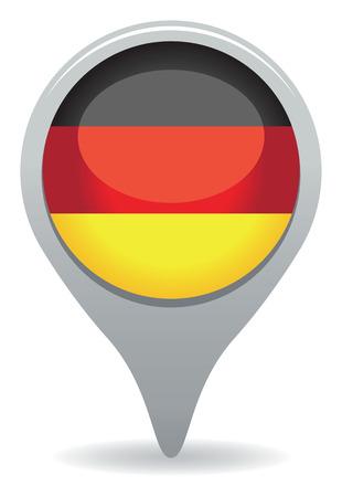 german mark: german icon Illustration