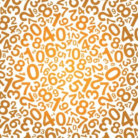 digit 3: orange number background Illustration