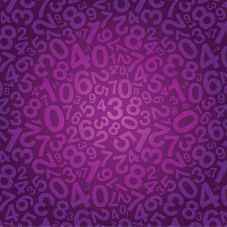 jumbled: purple number background Illustration