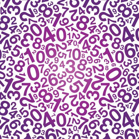 0 6: purple number background Illustration