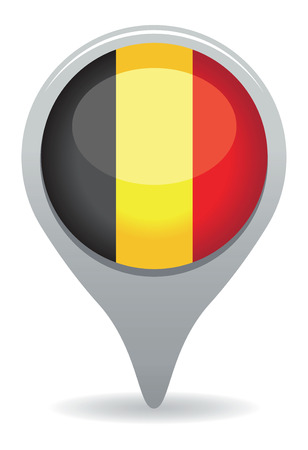 belgium flag pointer Vector