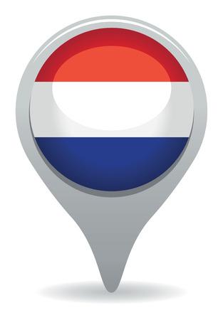 dutch flag pointer Stock Vector - 23848973