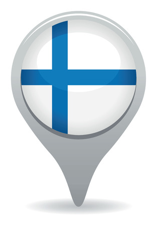 finland flag pointer Vector