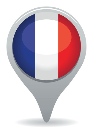 france flag pointer Vector
