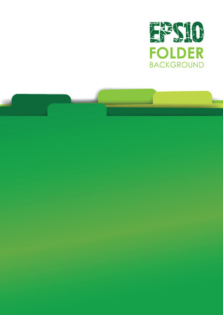 green paper folder files Illustration
