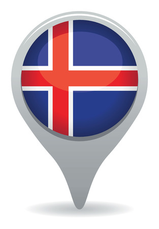 iceland flag pointer Vector