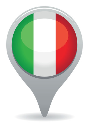 italian pointer flag Vector