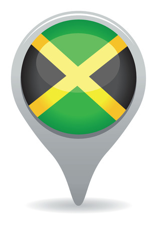 jamaican flag: jamaican pointer flag Illustration