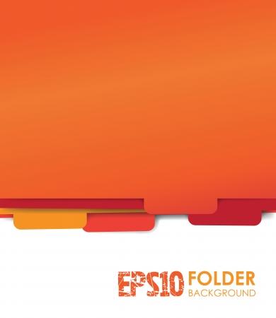 filing cabinet: red paper folder files