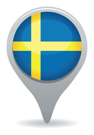 sweden flag pointer Vector
