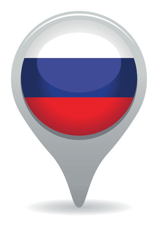 russia flag pointer Vector