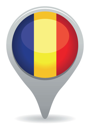 romania flag pointer Vector