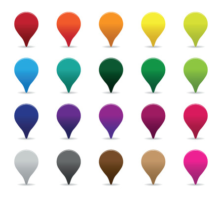 colourful pointer set Vector