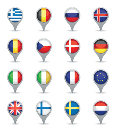 world flag set Stock Vector - 24094087