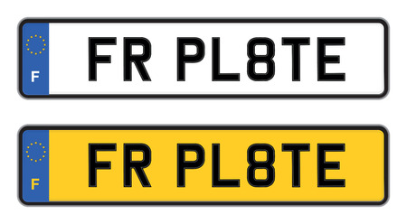 car plate: france car registration