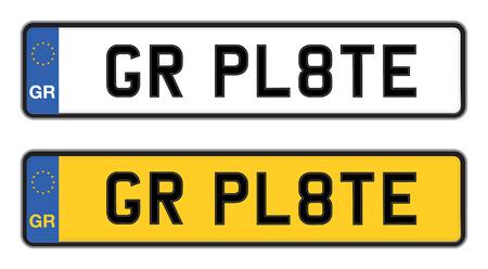 number plate: greece car registration